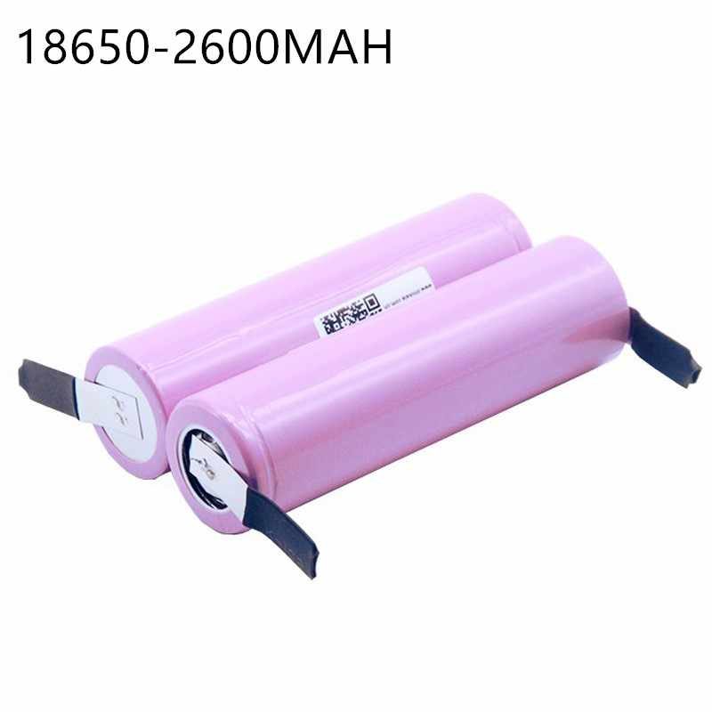 2 PCS New For  ICR18650-26FM 18650 2600 mAh 3.7V Li-ion Battery Rechargeable Battery