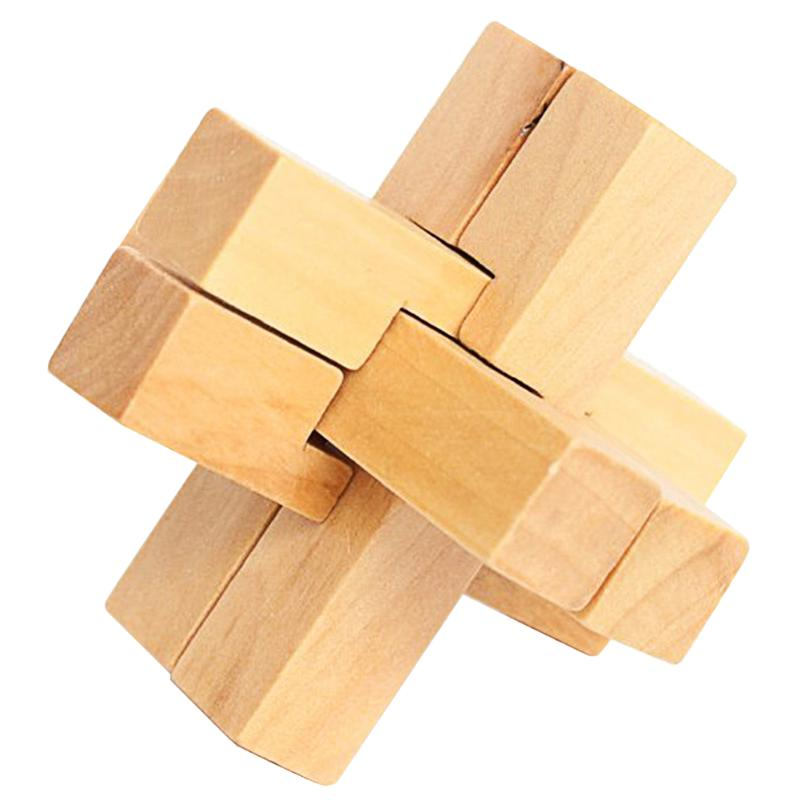 Wooden Kongming Luban Lock Kids Chinese Traditional Puzzle Toy Children Brain Teaser Games 3D Intellectual Unlock Toy
