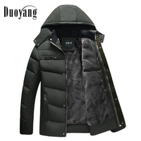New winter coat men 2018 fashion basic jackets mens coat fleece warm down jacket hooded canada Casual clothing winter jacket