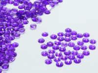 2000 przezroczysty fioletowy akrylowe Faceted okrągłe Rhinestone Gems flatback 3mm 10ss