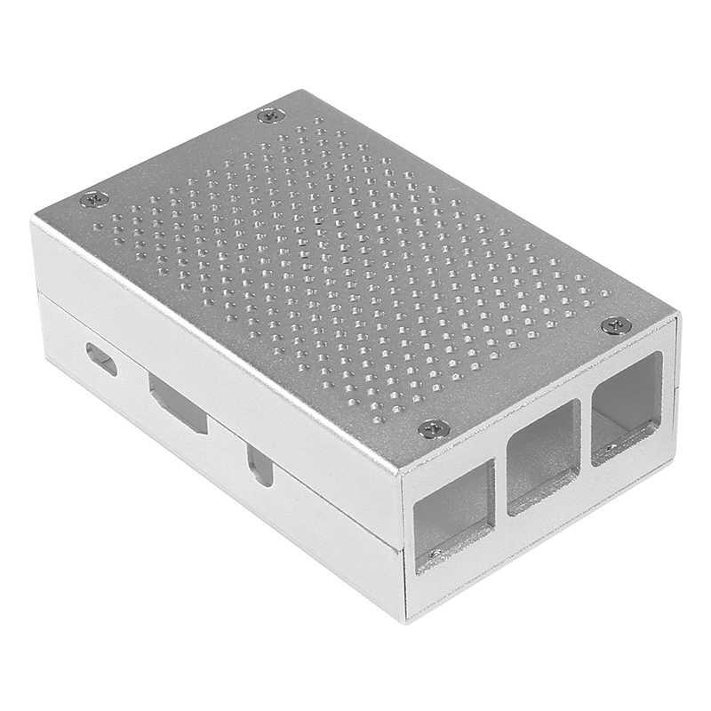 راسبيري بي 3 حافظة ألومنيوم فضي أخضر أسود حافظة معدنية RPI 3 صندوق متوافق مع راسبيري بي 3 موديل B