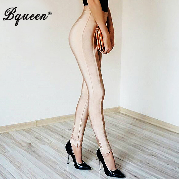 Bqueen 2017 New Sexy Elastic Waist Long Bandage Women Leggings Fashion Bodycon Trousers  ...