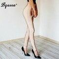 Bqueen 2017 nova moda outono sexy elástico na cintura calças longo bodycon bandage festa de celebridades lápis calças com zíperes mulheres