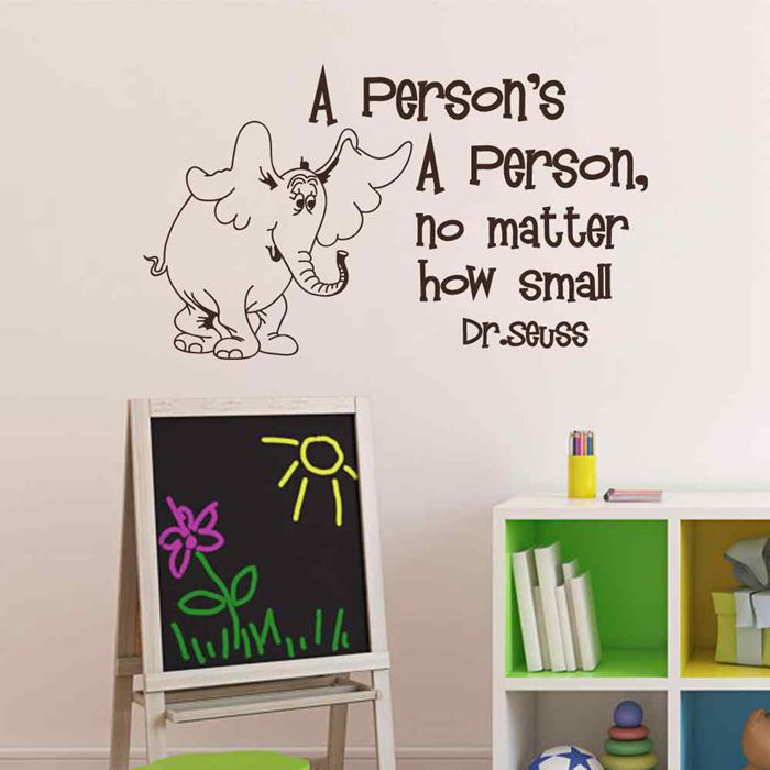 battoo wall decals quotes a persons a person no matter how small