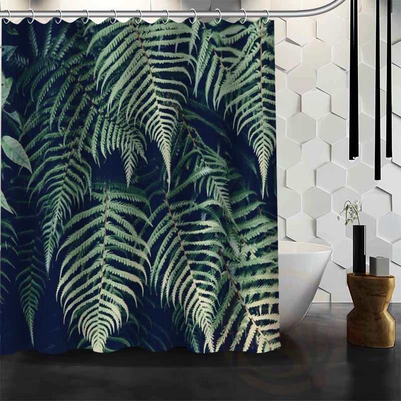 ShunQian Best Nice Custom Jungle Foliage Shower Curtain Bath Curtain Waterproof Fabric For Bathroom MORE SIZE