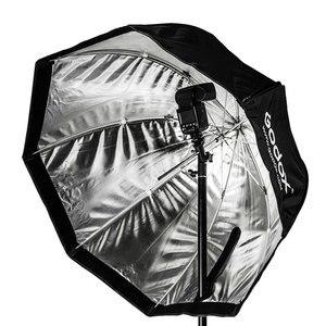"Image 3 - Godox 휴대용 120cm 47 ""옥타곤 우산 소프트 박스, 허니 콤 그리드, 2.8m 라이트 스탠드, 플래시 스피드 라이트 용 홀더 브래킷"