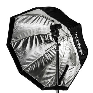 """Image 3 - Godox Portatile 120 centimetri 47 """"Octagon Softbox Ombrello con Griglia A Nido Dape, 2.8m di Luce Del Basamento, supporto della Staffa per Flash Speedlight"""