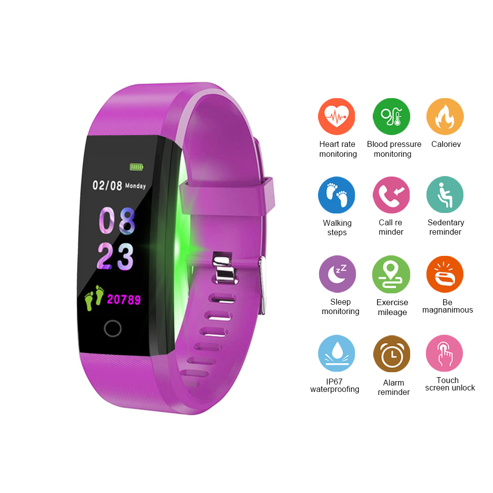 Bluetooth Smartwatch Sports-Bracelet Health Heart-rate/blood-pressure/Pedometer Waterproof