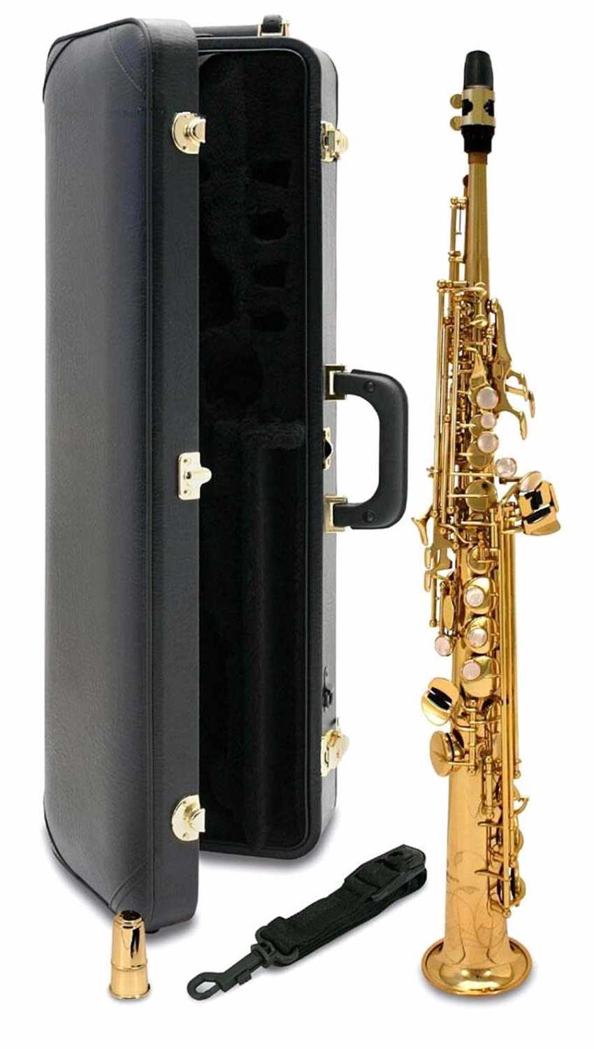 New Japan YANAGISAWA S901 B flat Soprano saxophone High Quality musical instruments YANAGISAWA Soprano professional shipping soprano saxophone bb curved sax high f with case the blue silver keycopper simulati copper simulation soprano saxophone