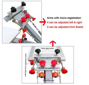 Image 3 - Free shipping Micro Registration 4 color 4 station manual silk screen printing machine for T shirt printer equipment carousel