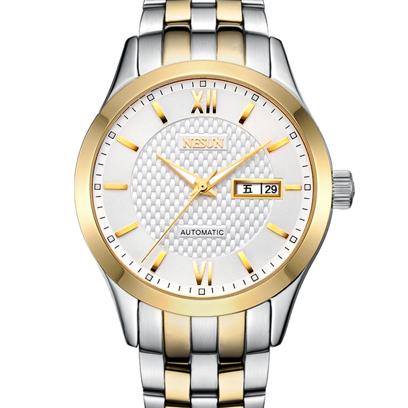 где купить New Nesun Men Watches Luxury Brand Japan MIYOTA Automatic Mechanical Movement Wristwatches Sapphire Waterproof Watch Men N9203-2 по лучшей цене