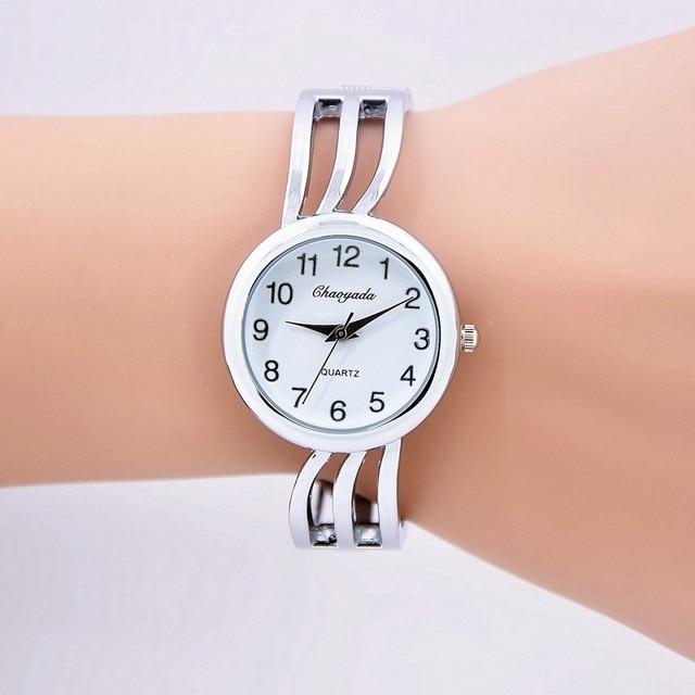 montre homme Stainless Steel Strap Watch Women Dress Watches Fashion Ladies quar