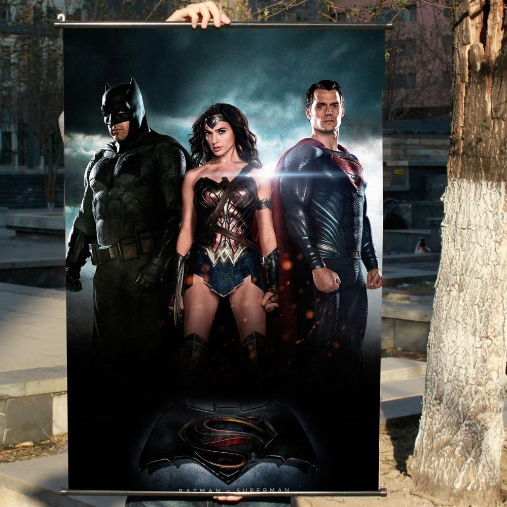 """""""batman V Superman"""" Hd Gioco Scrolls Movie Poster Wall Sticker Striscioni Appesi Panno Impermeabile Arte Camera Da Letto Soggiorno Decorazione Durevole In Uso"""