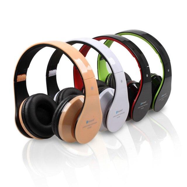 Aita at-bt809 plegable bluetooth wireless stereo headset auriculares mic fm tf ranura para iphone ipad pc fone de ouvido