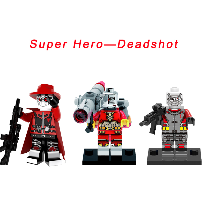 Deadshot Floyd Super Heroes Secret Six Suicide Squad 76053 Gotham City Cycle Chase DIY figure Building Block Toy For Kids