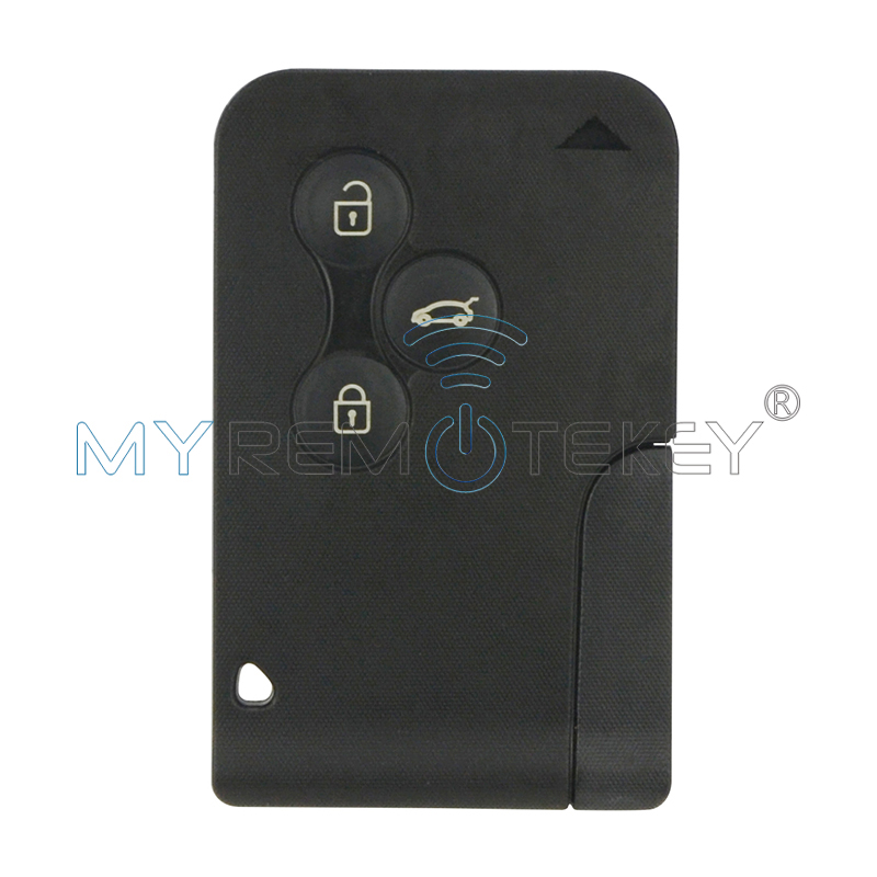 Smart car key card for Renault Megane 2 Megane II Scenic II Grand Scenic 2003 2004 2005 2006 2007 2008 433mhz 3 button remtekey комплект дефлекторов vinguru накладные скотч для renault scenic ii 2003 2009 минивэн 4 шт