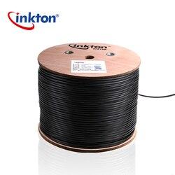 Inkton Esterna Impermeabile Cavo UTP Cat5e Cavo Ethernet Rj45 Nero Rotolo Nucleo 8 Core Cavo di Rete 50 m/100 m/305 m 0.5mm CCA SGS