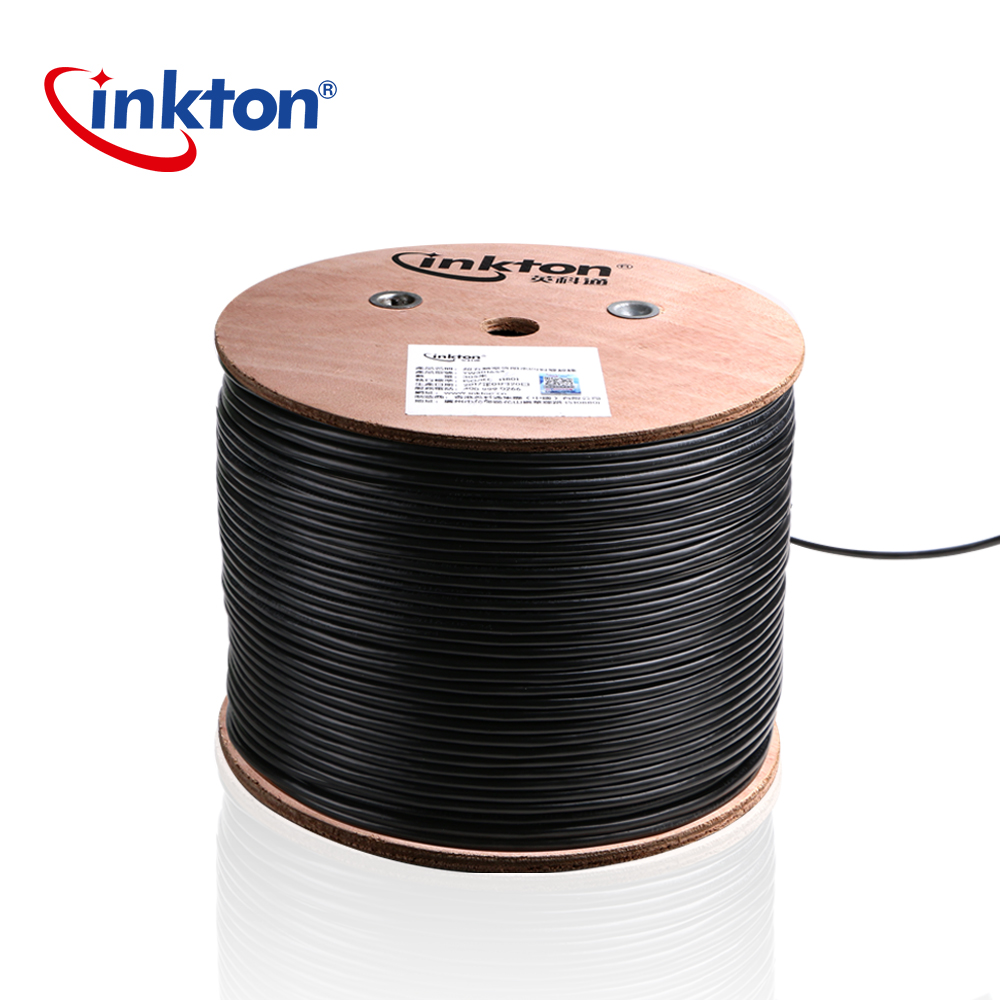 Inkton Outdoor Waterproof UTP Cable Cat5e Ethernet Cable Rj45 Black Roll Core 8 Cores Network Wire 50m/100m/305m 0.5mm CCA SGS