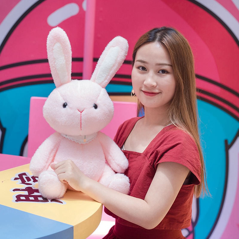 Lovely 35cm-60cm Soft Pink/White Rabbit Plush Toy Cute Cartoon Animal Bunny Stuffed Doll Baby Sleeping Girlfriend Christmas Gift