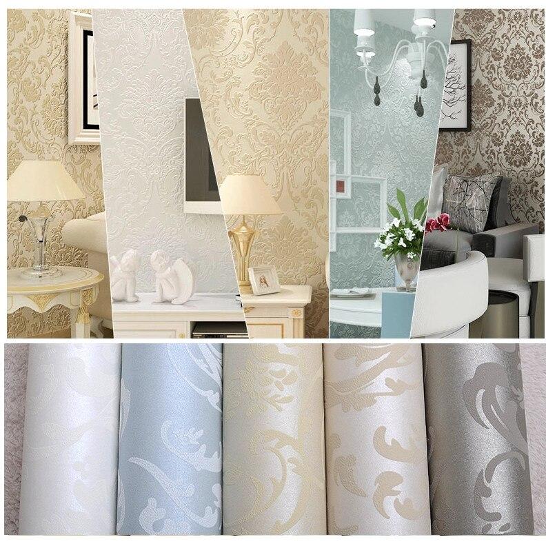 Vlies Europäischen Glänzend Stilvolle Blau Beige Weiß Moderne