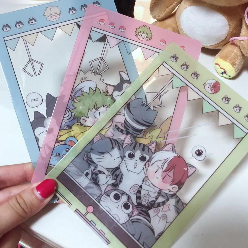 Anime My Hero Academia Midoriya Izuku Shoto Todoroki Bakugou Katsuki PVC Card Postcard Cute Xmas Gifts