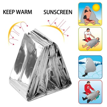 2pcs/lot Survival Blanket Foil Thermal Waterproof Survival Tool Emergency Rescue First Aid Sliver Curtain Military Blanket 2