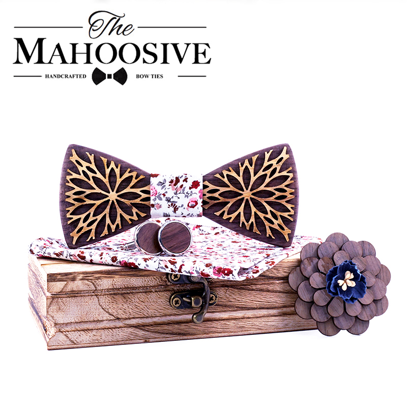 New Design 100% Wood Men Tie Classic Business Neck Wooden Bow Tie For Men Suit For Wedding Party Necktie Factory Sale