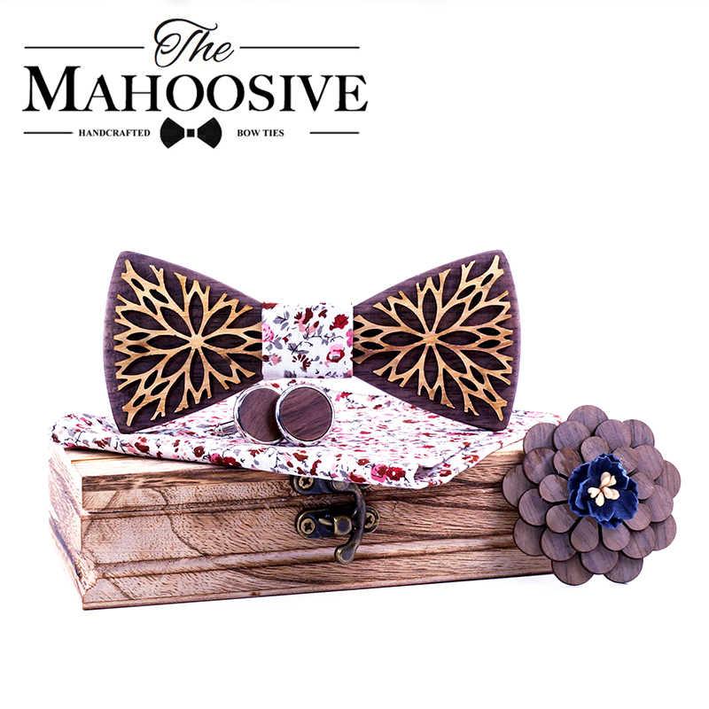Nowy projekt 100% drewno mężczyźni krawat klasyczny biznes szyi muszka drewniana dla mężczyzn garnitur na ślub krawat na imprezę prosto z fabryki