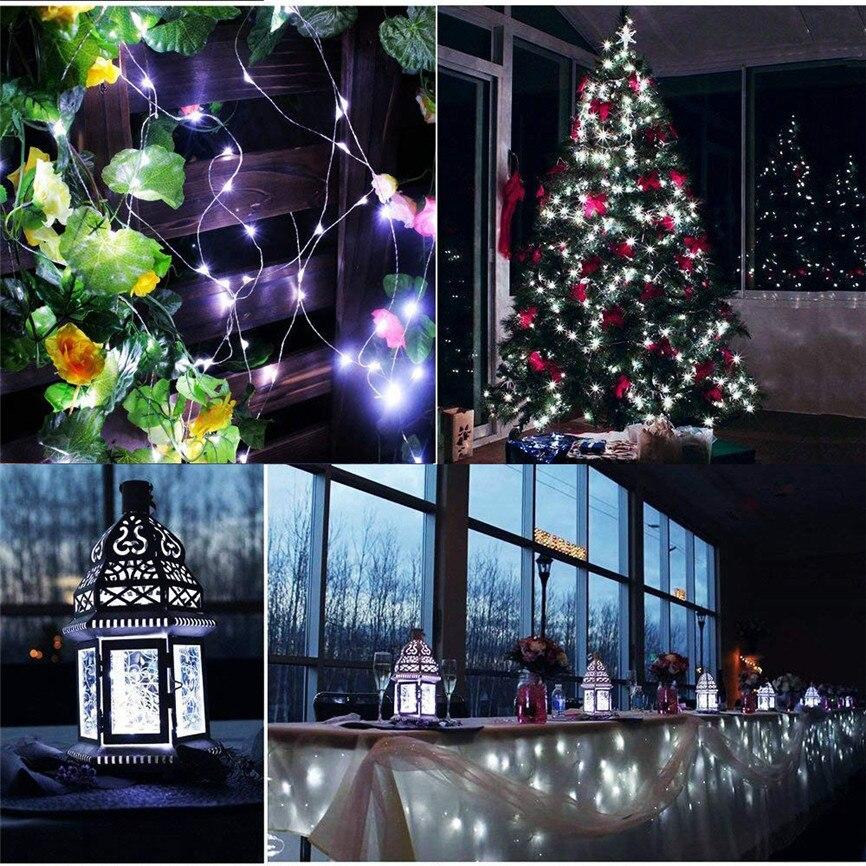 US $7.7 35% OFF|100 LED String Lights Christmas Decor String Lights  Electric Plug in Multi Color Change Christmas Desk Decor Lamp Tape Dec#1-in  ...