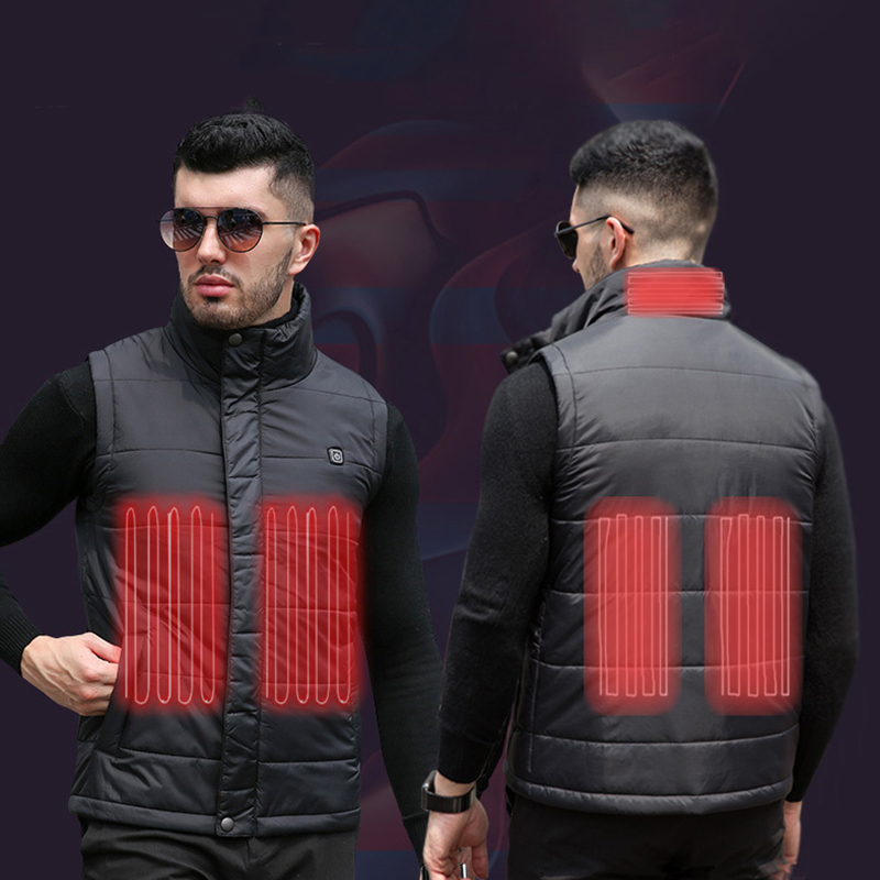 Men/Women S XXXXL USB Charging Electric Heated Vest Winter Heating Vest Temperature Control Safety Clothing for Outdoor Work-in Safety Clothing from Security & Protection
