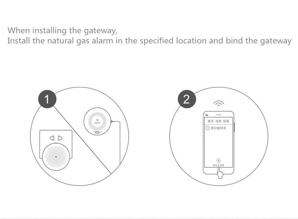 Original Xiaomi Mijia Honeywell Gassmoke Alarm Detector Remote Fire