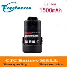 Li-ion para Bat Ps40-2 de Lítio Substituição DA Bateria 10.8 V 1.5ah 411 Bat 411a Bat411 Bat412a Gsr Bosch Ps20-2 Ps10-2