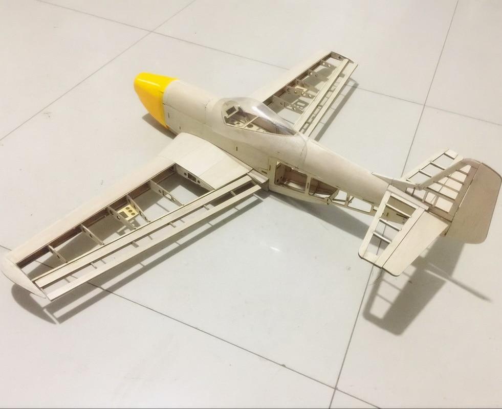 RC Plane Laser Cut Balsa Trä Flygplansats New P51 Frame Without - Radiostyrda leksaker - Foto 3