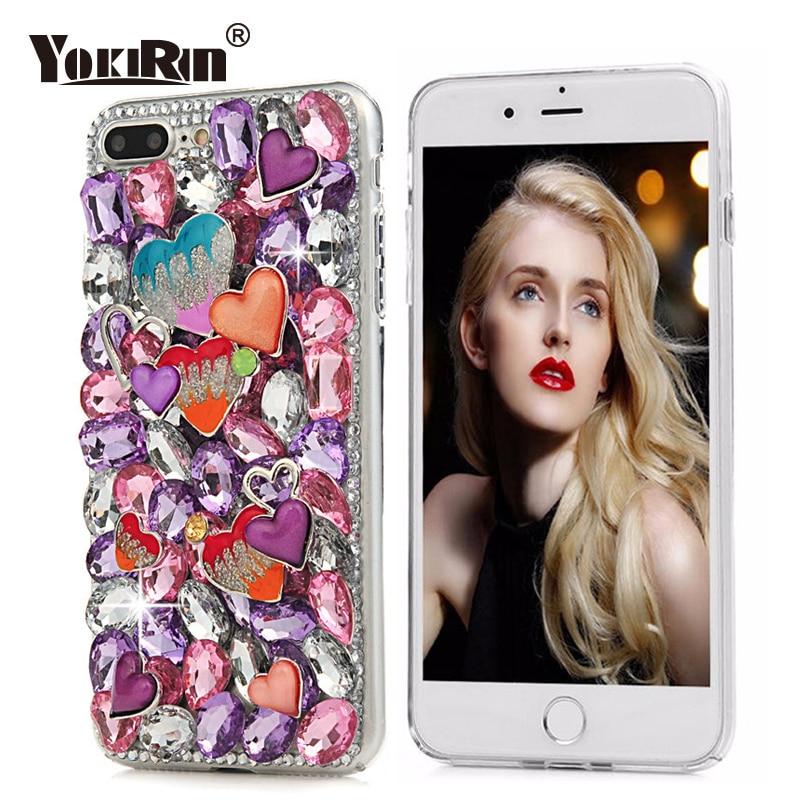 YOKIRIN Bling Crystal Diamond Case Rhinestone Cover For iPhone 6 6S 7 8 Plus For Samsung Galaxy S8 Plus Sony Xperia XA XZ Cases
