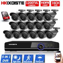 Motion Detect CCTV DVR 16Channel AHD 1080P CCTV DVR CCD HD 1200TVL 720P Waterproof Nightvision indoor Outdoor security camera