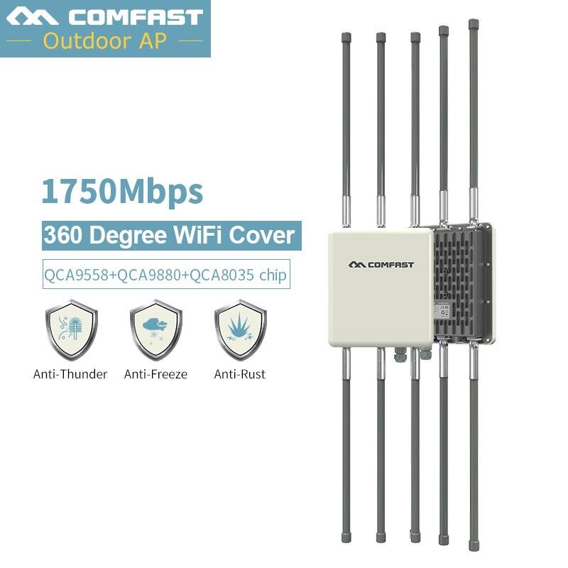 1750 Mbps Dual Band 2.4G e 5.8G Outdoor CPE AP Router WiFi Del Segnale Hotspot Amplificatore di Ripetitore Del Ripetitore A Lungo Raggio poE Wireless Punto di Accesso