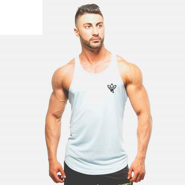 2018 fashion Gyms Tank Tops Mens Bodybuilding Clothes Fitness Men Singlet Sleeveless Cotton Workout Stringer Gyms Shirts