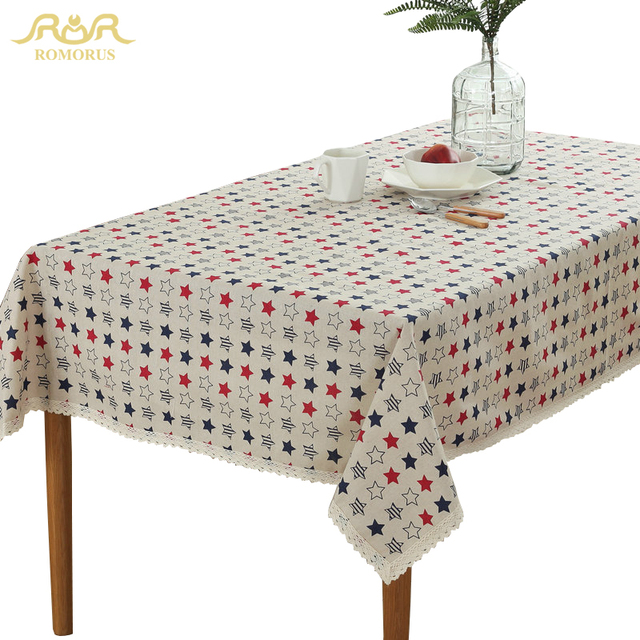 Attirant ROMORUS Modern Star Lace Table Cloths Rectangular Kitchen Table Covers Home Decorative  Tablecloths Dining Party Tea