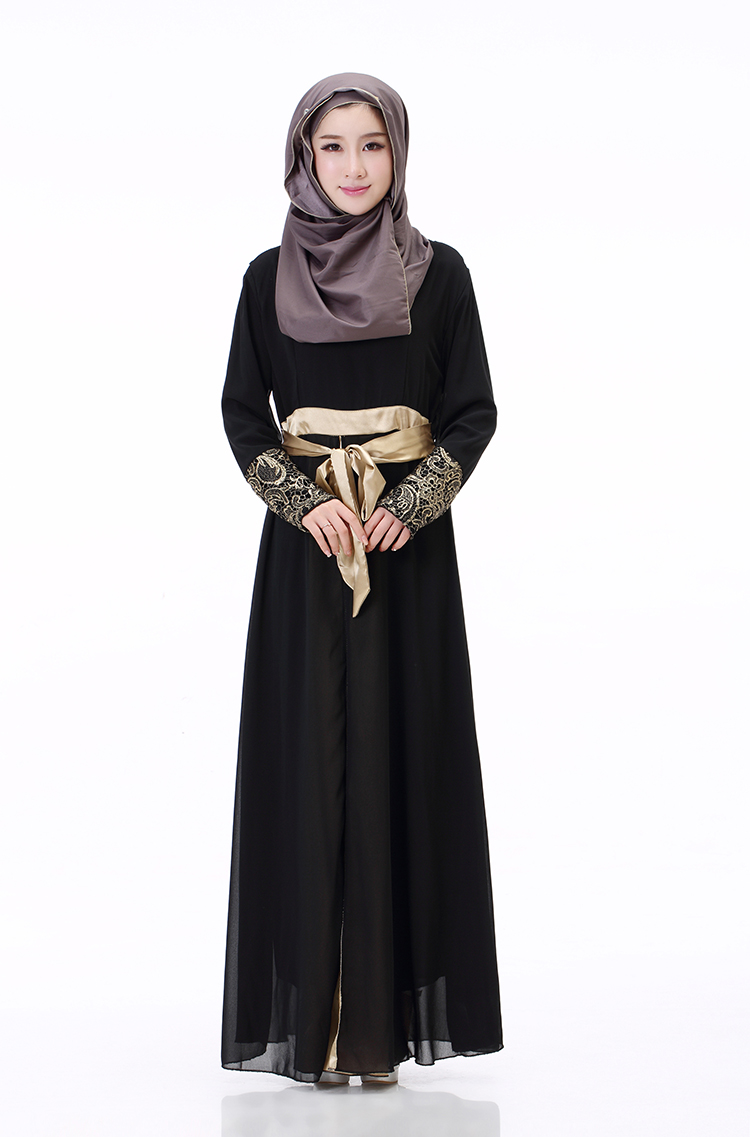 Fashion Chiffon muslim abaya 2018 traditional turkish clothing arabic dresses for women abaya clothing B5025 in Islamic Clothing from Novelty Special Use