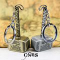 Movie The Avengers Thor's Hammer Mjolnir Keychain can Drop-shipping Metal Key Rings For Gift Chaveiro Key chain Jewelry YS10821