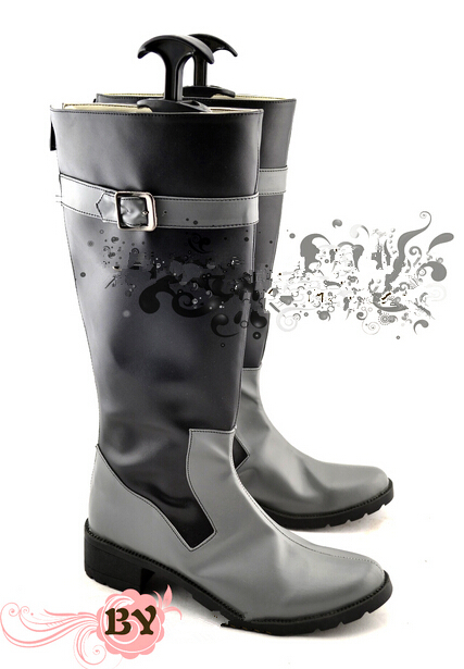 Top quality K Return Of Kings  Fushimi Saruhiko black high boots cosplay party shoes