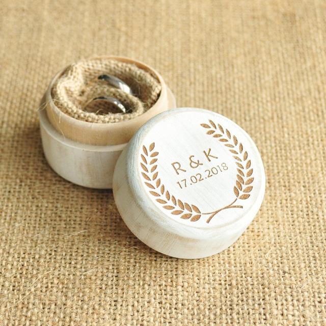 Personalized Rustic Ring Box Engraved Wedding Ring Box Anniversary ...