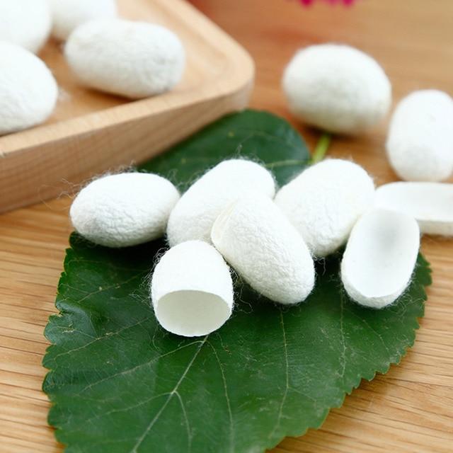 Natural Silk Cocoons Facial Skin Care 30PCS Organic Silkworm Balls Purifying Whitening Exfoliating Scrub Blackhead Acne Remover 1