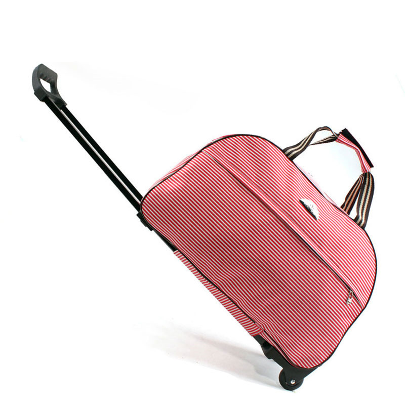 9819fdb0c59 Large Wheeled Duffle Trolley Bag Women Soft Luggage Travel Bags on Wheels  Fashion Designer Duffel Waterproof Bags Packing c-in Travel Bags from  Luggage ...