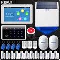 KERUI 7 Pollici TFT Display A Colori WIFI Sistema di Allarme di GSM di Allarme Domestico di Sicurezza kit Tastiera Rfid di Controllo A Distanza Senza Fili Solare sirena