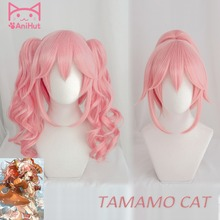 AniHut Tamamo No Mae Wavy Curly Ver Fate Grand Order Cosplay Wig Cat Pink Women Hair FGO Halloween Costumes