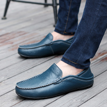 Leather Men Loafers Driving  Casual Shoes Fashion Mens Moccasins Chaussure Homme Soft Sole Men Leather Casual Flats Shoes  5 цена в Москве и Питере