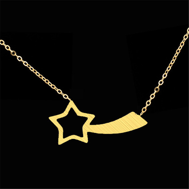 Shooting Star Nnecklace bohemian bijoux best friend vintage accessories brand stainless steel men's necklace  gift jewelry