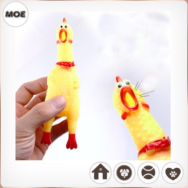 Gumové kuře různé velikosti pro velké nebo malé psy a kočky squeak hračky