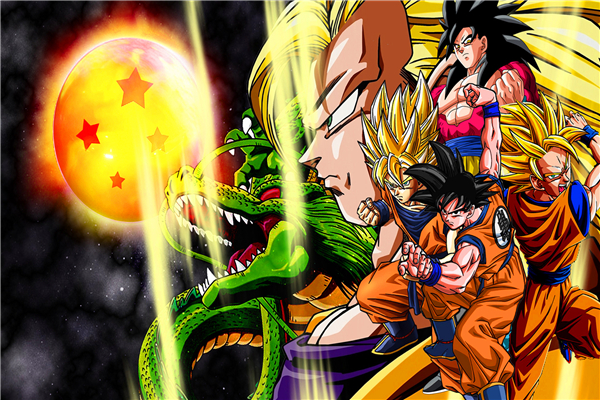 Dragon Ball Z Wallpaper Super Saiyans: Custom Canvas Dragon Ball Poster Dragon Ball Z Wall